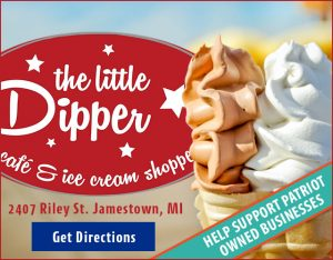 Ad for: The Little Dipper Ice Cream Shoppe in Jamestown, Michigan