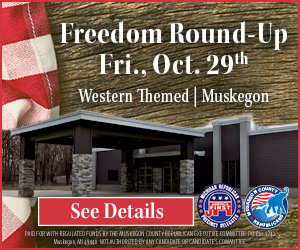 Ad for: Freedom Round-Up Events in Muskegon, Michigan
